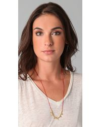 Shashi | Red Tessa Skull Necklace | Lyst