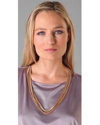 Tuleste - Metallic Multi Strand Snake Chain Necklace - Lyst