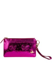 Vivienne Westwood | Metallic Pink Greek Eyes Purse | Lyst