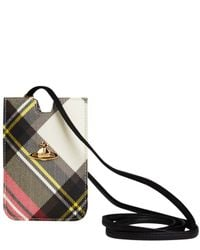 Vivienne Westwood Gray Red Derby Tartan Iphone Case