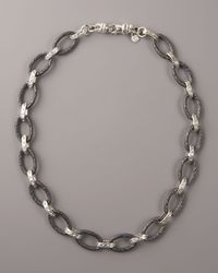 Armenta - Metallic Oval Link Necklace for Men - Lyst
