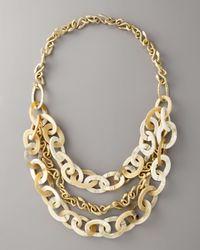 Ashley Pittman | Natural Bronze & Light Horn Necklace, 42l | Lyst