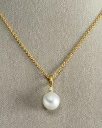 Assael | Metallic Diamond South Sea Drop Necklace | Lyst