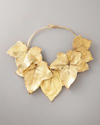 Aurelie Bidermann - Metallic Ivy Leaf Necklace - Lyst