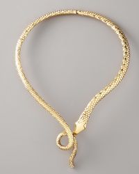 Aurelie Bidermann | Metallic Snake Necklace | Lyst
