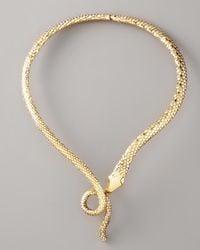 Aurelie Bidermann - Metallic Snake Necklace - Lyst
