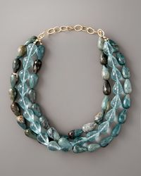 Devon Leigh | Blue Three-strand Turquoise Necklace | Lyst