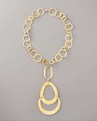 Devon Leigh | Metallic Long Gold-link Necklace | Lyst