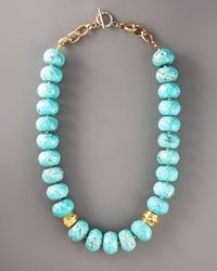 Devon Leigh - Blue Faceted Turquoise Necklace - Lyst