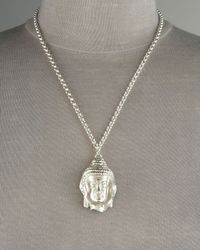 Dominique Cohen | Metallic Buddha Pendant Necklace | Lyst