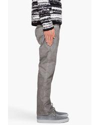 Edun - Gray Straight Leg Pants for Men - Lyst
