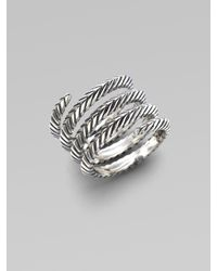 Elizabeth and James | Metallic Sterling Silver Spiral Ring | Lyst