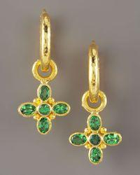 Elizabeth Locke | Green Tsavorite Earring Charms | Lyst