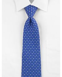 Ferragamo | Blue Owls & Hearts Silk Tie for Men | Lyst