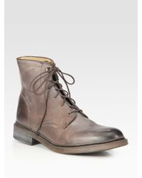 Frye - Brown James Lace-up Ankle Boots for Men - Lyst