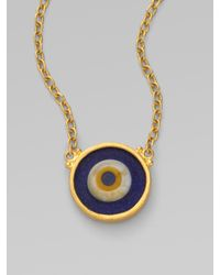Gurhan | Metallic 24k Gold Evil Eye Pendant Necklace | Lyst