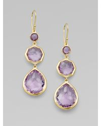 Ippolita - Metallic Amethyst and 18k Yellow Gold Earrings - Lyst