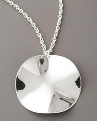 Ippolita - Metallic Wavy Pendant Necklace - Lyst
