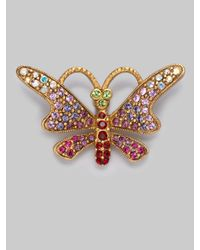 Jay Strongwater - Metallic Jeweled Butterfly Tack Pin - Lyst