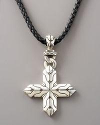 John Hardy - Metallic Classic Chain Cross Necklace for Men - Lyst