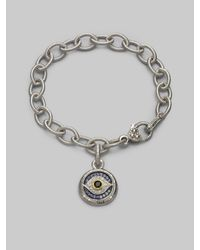 Judith Ripka | Metallic Sapphire, Sterling Silver & 18k Yellow Gold Charm Bracelet | Lyst