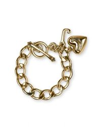 Juicy Couture | Metallic Starter Charm Bracelet | Lyst