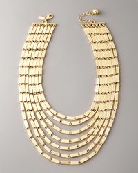 kate spade new york | Metallic Gold Rush Collar Necklace | Lyst