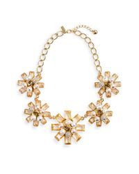 Kate Spade | Gold First Blush Floral Statement Necklace | Lyst
