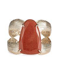 Kendra Scott | Brown Celeste Leaf Wrap Stone Cuff | Lyst