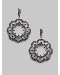 M.c.l  Matthew Campbell Laurenza - Black Sapphire & Sterling Silver Lace Drop Earrings - Lyst