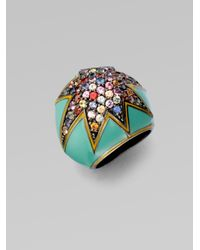 M.c.l  Matthew Campbell Laurenza - Multicolor Starstuck Multi-colored Sapphire Pavé Ring - Lyst
