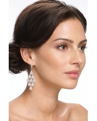 Nadri | White Tiered Chandelier Earrings | Lyst