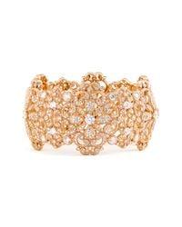 Nadri | Pink Filigree Cuff Bracelet | Lyst