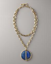 Paige Novick - Blue Lapis Pendant Necklace - Lyst