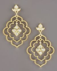 Penny Preville - Metallic Flower Petal Earrings - Lyst