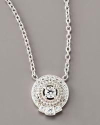 Penny Preville - Metallic Pave Diamond Pendant Necklace - Lyst