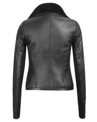 Rick Owens | Black Leather Shearling Jacket | Lyst