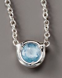 Roberto Coin - Blue Topaz Necklace - Lyst