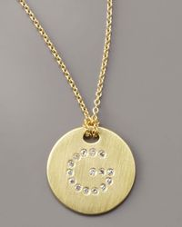 Roberto Coin - Metallic Letter Medallion Necklace, G - Lyst