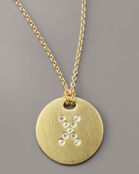 Roberto Coin - Metallic Letter Medallion Necklace, X - Lyst