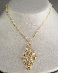 Roberto Coin - Metallic Mauresque Teardrop Necklace - Lyst