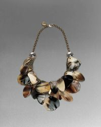 St. John | Metallic Horn Statement Necklace | Lyst