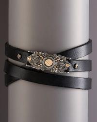 Stephen Webster - Black Multi-wrap Leather Bracelet for Men - Lyst
