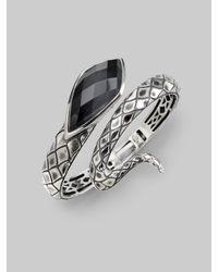 Stephen Webster - Metallic Grey Cats Eye Crystal Haze & Sterling Silver Snake Bracelet - Lyst