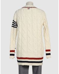 Thom Browne - Blue Oversized Cardigan for Men - Lyst
