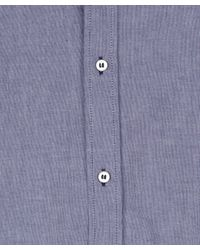 A.P.C. - Blue Oxford Cotton Shirt for Men - Lyst