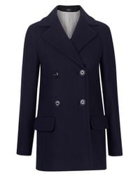 A.P.C. | Blue Navy Short 70s Pea Coat | Lyst