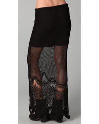 Free People - Black Fp Spun Fishtail Maxi Skirt - Lyst