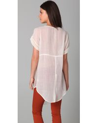 Free People | White New Romantics Tarpaulin Tunic | Lyst