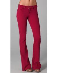 J Brand - Red Martini Skinny Flare Jeans - Lyst